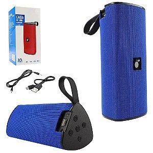 Caixa de Som Portatil Bluetooth Multimídia Azul