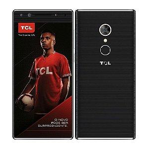"""Smartphone TCL T7 Preto,  5.7"""" 18:9, Câmera Dupla Frontal com flash (13MP + 5MP)  e Traseira 12MP, 32GB, Octa, Desbloqueio Facial e Digital, Dual Chip, 4G SEMP"""