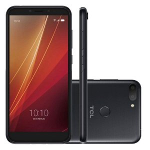 """Smartphone TCL C10 Preto ou Dourado, 5.45"""" 18:9, ROM 32GB e RAM 3GB, Câmeras 16MP + 2MP , Octa, Android 9, Desbloqueio Facial e Digital SEMP"""