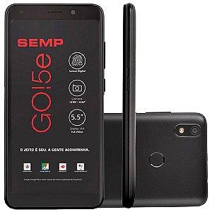 """Smartphone SEMP GO 5e, 4G, Com Impressão Digital, Quad 1.4Ghz, 5.5"""" IPS, Android GO"""