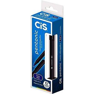 Caneta Esferográfica Cis Pentonic Azul Caixa Com 12 Unidades