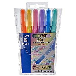 Kit Caneta Marca Texto Pilot Lumini Color Soft Tons Pastel