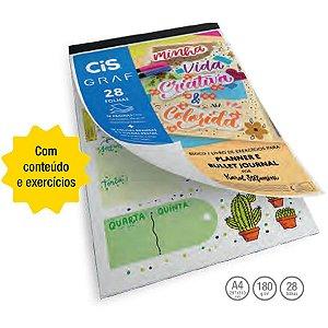 Bloco Livro De Exercícios Para Planner E Bullet Journal Cis