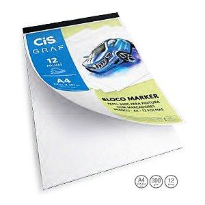 Bloco Papel Para Marcador Cis Graf Marker 300g A4 12 Folhas