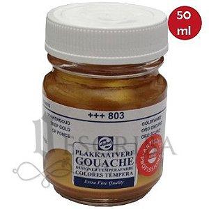 Tinta Guache Para Caligrafia - Telens Ouro Escuro 803 - 50ml