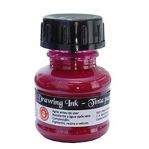 Tinta Nanquim Para Caligrafia e Desenho Drawing Ink - Koh-I-Noor Magenta - 20ml