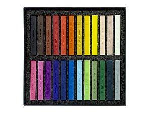 Giz Pastel Seco Cis Graf Soft Pastels 24 Cores