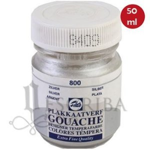 Tinta Guache Para Caligrafia - Talens Prata 800 - 50ml