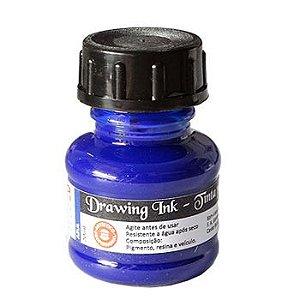 Tinta Nanquim Para Caligrafia e Desenho Drawing Ink Koh-I-Noor Azul - 20ml
