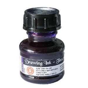Tinta Nanquim Para Caligrafia e Desenho Drawing Ink Koh-I-Noor Violeta - 20ml