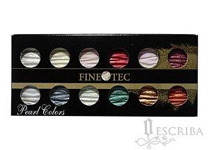 Tinta Para Caligrafia FineTec 12 Cores - Perolizadas