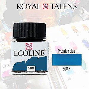 Aquarela Líquida Ecoline Azul Prússia 508 - 30ml