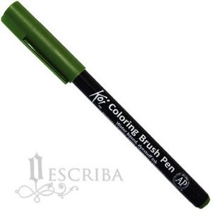 Caneta Pincel Koi Coloring Brush Pen Sakura - Verde Sap XBR#130