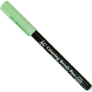 Caneta Pincel Koi Coloring Brush Pen Sakura - Verde Ice XBR#128
