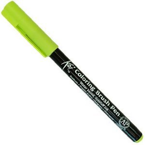 Caneta Pincel Koi Coloring Brush Pen Sakura - Verde Fresh XBR#32