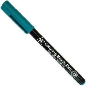 Caneta Pincel Koi Coloring Brush Pen Sakura - Viridian XBR#31