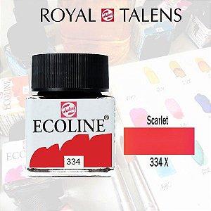 Aquarela Líquida Ecoline Vermelho Scarlate 334 - 30ml