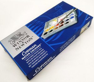 Aquarela Cotman Water Colours Winsor & Newton 12 Cores