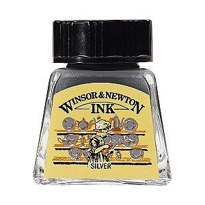 Tinta Para Desenho Winsor & Newton 14ml Silver
