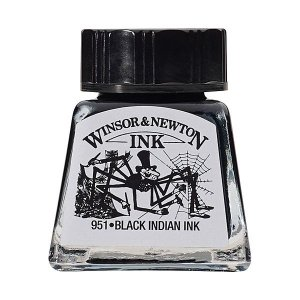 Tinta Para Desenho Winsor & Newton 14ml Black Indian