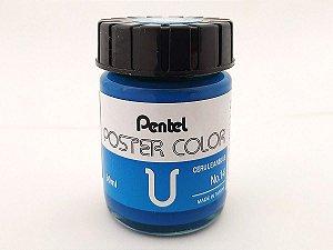 Tinta Guache Para Caligrafia e Desenho Pentel Poster Color Azul Celeste 14 - 30ml