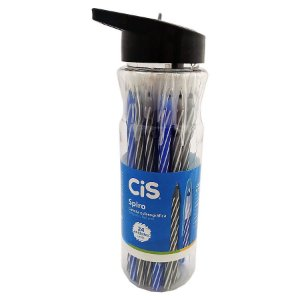 Caneta Esferográfica Cis Spiro Pote Com 24 Unidades