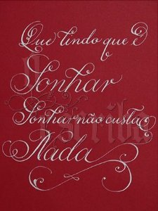 Manuscrito - Alfabeto Cursiva - Exclusivo - ME03