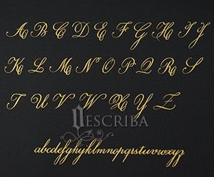 Manuscrito - Alfabeto Copperplate - A01