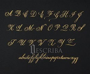 Manuscrito - Alfabeto Copperplate - A02