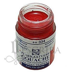 Tinta Guache Para Caligrafia - Talens Escarlate 334 - 16ml