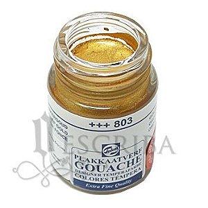 Tinta Guache Para Caligrafia - Talens Ouro Escuro 803 - 16ml