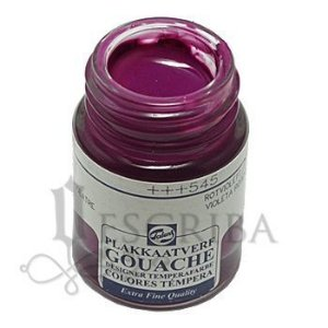 Tinta Guache Para Caligrafia - Talens Violeta Avermelhado 545 - 16ml