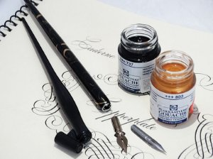 Kit Para Caligrafia Copperplate/Cursiva Inglesa - Básico