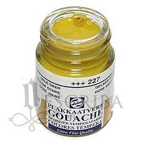 Tinta Guache Para Caligrafia - Talens Amarelo Ocre 227 - 16ml
