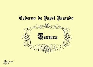 Caderno Pautado Para Caligrafia Textura (Gótica) - 15 Folhas - A4