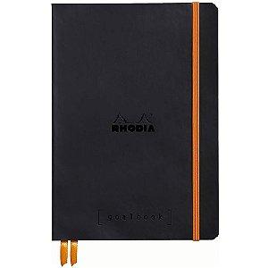 Caderno Pontilhado Rhodia Goalbook Preto A5