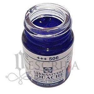 Tinta Guache Para Caligrafia - Talens Azul Ultramarino Escuro 506 - 16ml
