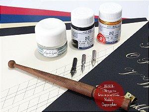 Kit Para Caligrafia Copperplate - Intermediário Profissional (Canhoto)