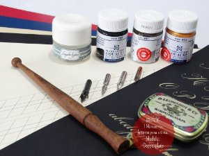 Kit Para Caligrafia Copperplate - Avançado - Profissional (Canhoto)
