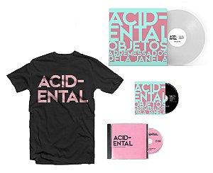 """COMBO ACIDENTAL: VINIL & CD """"OAPJ"""" + CD """"Grandes Momentos"""" + Camiseta LOGO Preta"""