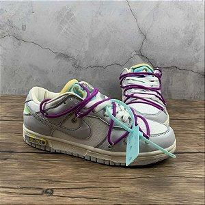 Nike Dunk Low  LTHR/OW - Cinza