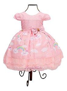 Vestido Infantil Chuva De Amor  Chuva De Benção Aniversário