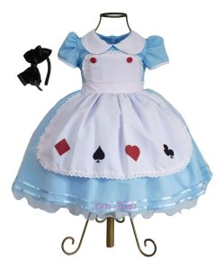 Vestido Alice No País Das Maravilhas Luxo Festa 1 A 3 Anos