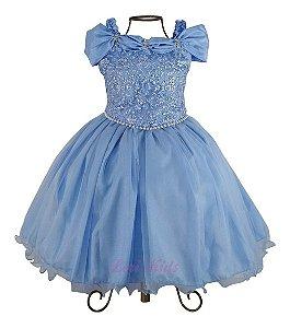 Vestido Luxo Festa Infantil Princesa Cinderela