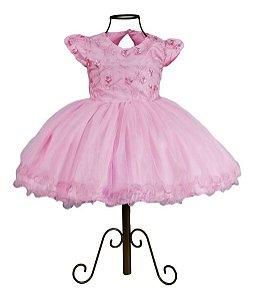 Vestido Infantil Festa Aniversario Casamento Princesa Luxo