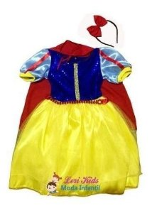 Fantasia Infantil Branca De Neve + Tiara