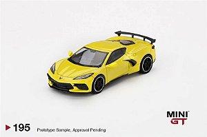 Chevrolet Corvette 2021 amarelo - 1:64 - Mini GT