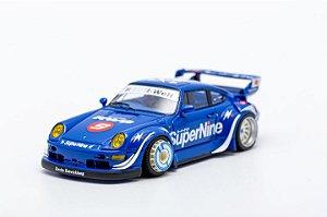 Porsche 930 RWB SUPERNINE - azul - 1:64 - RSM