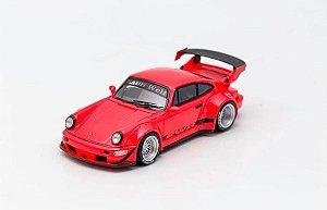 Porsche 930 RWB Vermelho - 1:64 - PC Club