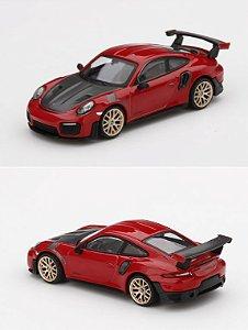 Porsche GT2 RS Vermelho - 1:64 - Mini GT